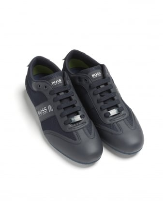 Mens Lighter_Lowp_mxme Trainers, Logo Mesh Detail Navy Sneakers