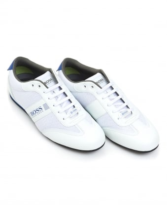 Mens Lighter_Lowp_mxme Trainers, Mesh Detail White Sneakers