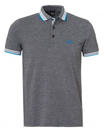 Mens Paddy Polo, Contrast Tipping Grey Polo