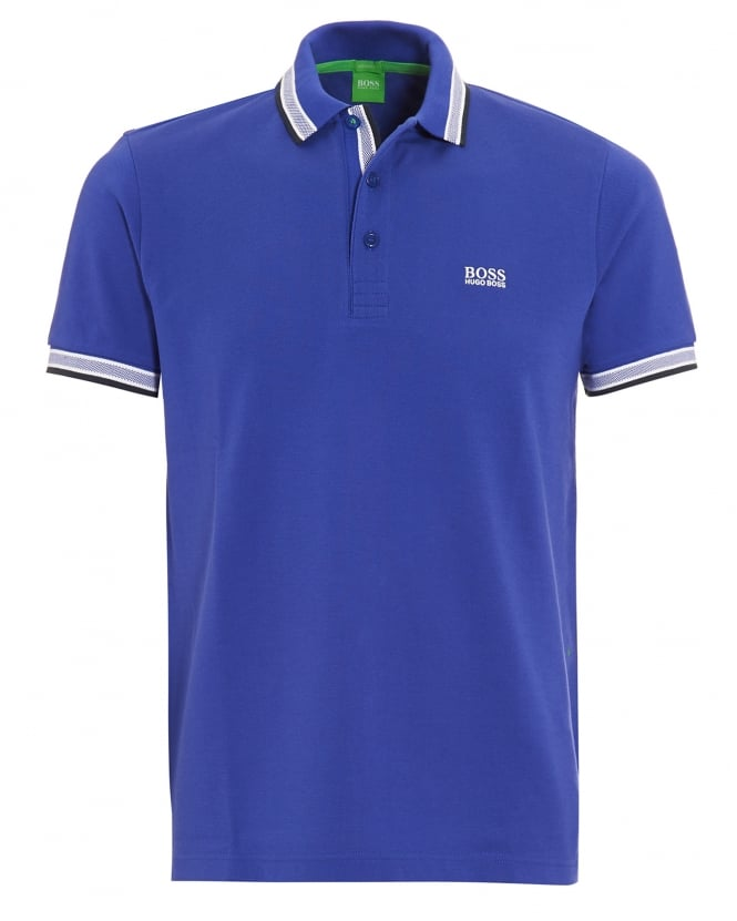 Hugo Boss Green Mens Paddy Polo Shirt, Blue Tipped Logo Polo