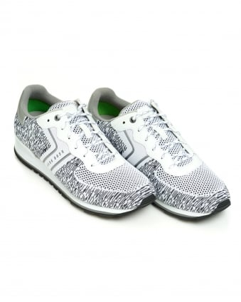 Mens Parker Run Trainer, Black White Runner Sneaker