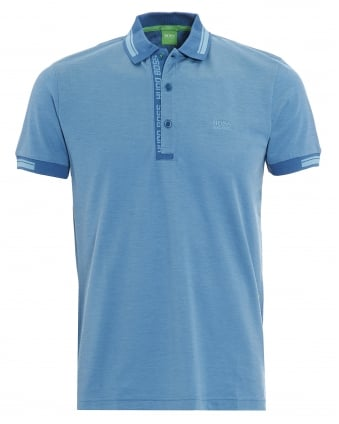 Mens Paule 4 Polo Shirt, Blue Logo Tipped Polo