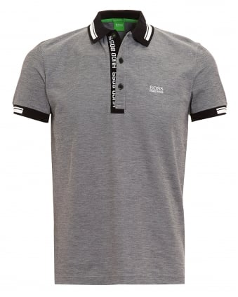 Mens Paule 4 Polo Shirt, Grey Logo White Tipped Polo