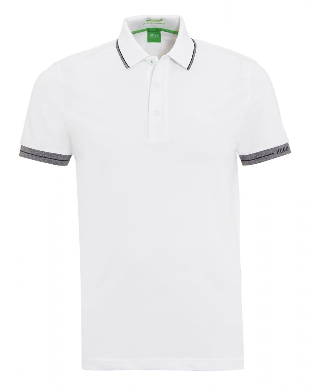 Mens Paule Tipped Polo Shirt White