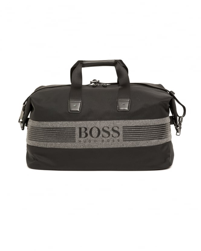 Hugo Boss Green Mens Pixel F_Holdall Weekend Gym Logo Bag