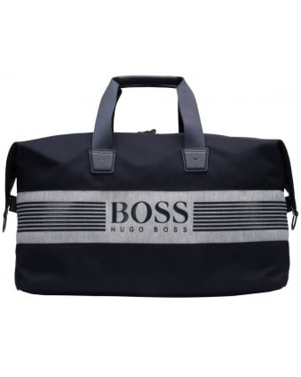 Mens Pixel JHoldall Navy Blue Logo Gym Bag