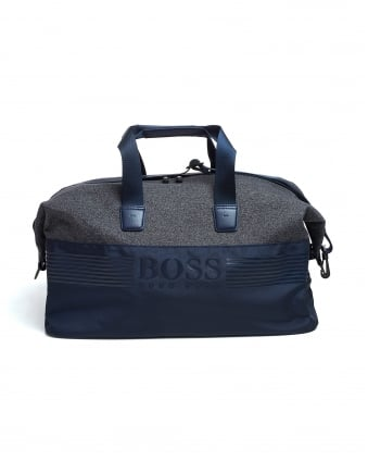 Mens Pixel M_Holdall Bag, Nylon Navy Blue Gymbag