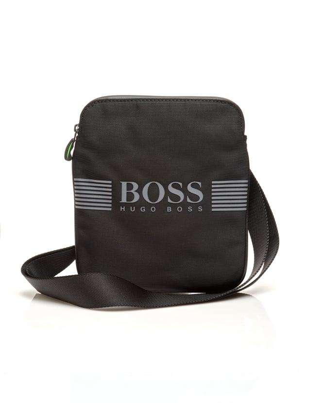 01753895395 14960 50332705 SL98BQ 494006939. hugo boss orange mens pixel s  zip env nylon stash crossbody black bag 9030c283be