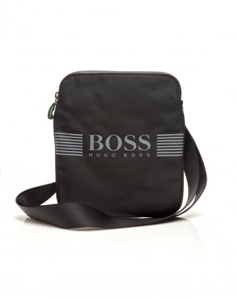 Mens Pixel_S zip env Nylon Stash Crossbody Black Bag