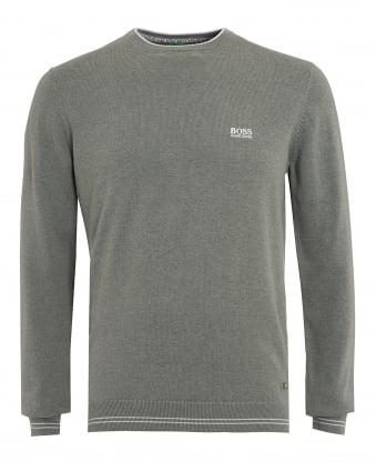 Mens Rime S17 Jumper, Grey Piped Slim Fit Sweater