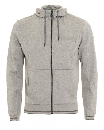 Mens Saggy Hoodie Light Grey Hooded Sweatshirt