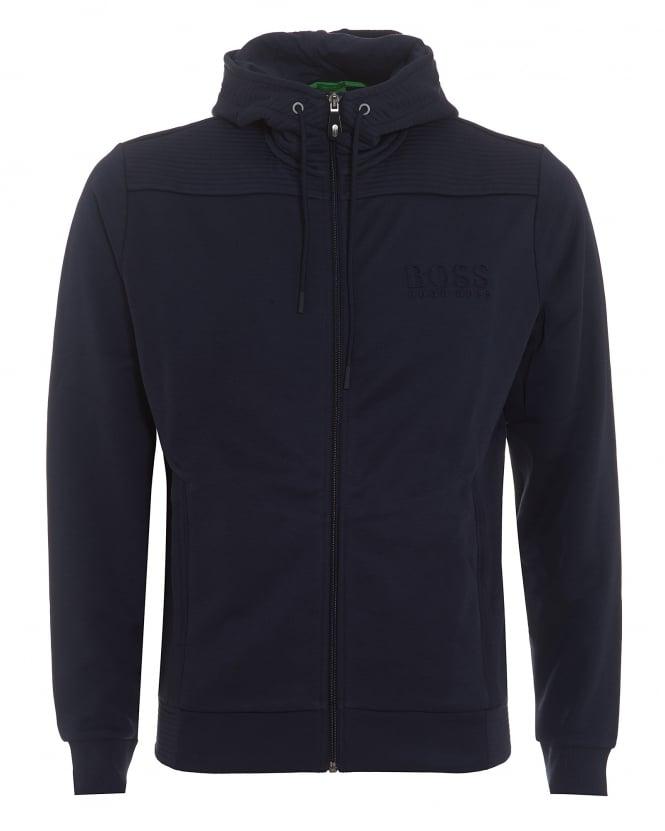 64d7696a 14477 50333978. hugo boss green mens saggy hoodie zip through navy blue  sweatshirt