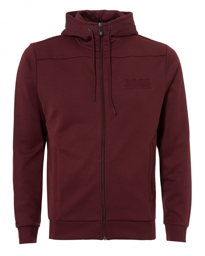 Hugo Boss Green Mens Saggy Hoodie, Zip Through Port Royal Sweatshirt