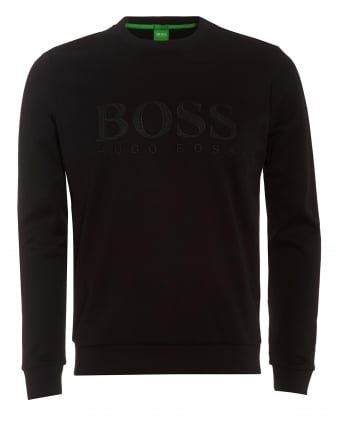 Mens Salbo Sweatshirt, Black Mesh Logo Jumper