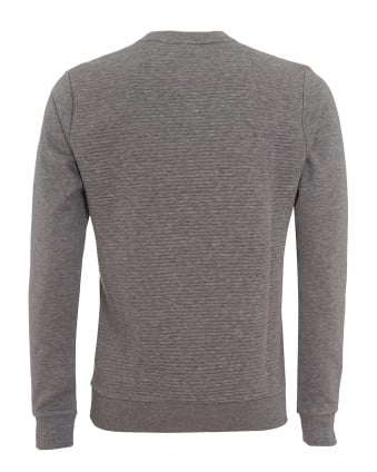 Mens Salbo Sweatshirt, Crew Neck Grey Melange Jumper