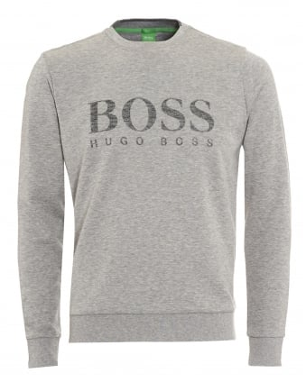 Mens Salbo Sweatshirt, Light Grey Logo Jumper