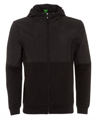 Mens Sivon Hoodie, Black Hooded Jacket