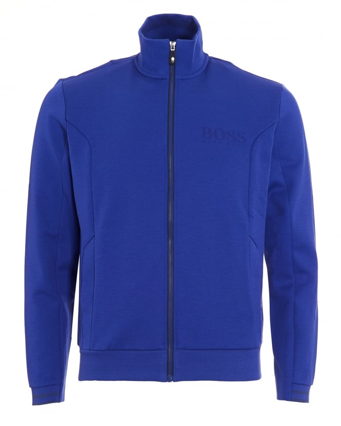 Hugo Boss Green Mens Skaz Sweatshirt, Blue Funnel Neck Track Top