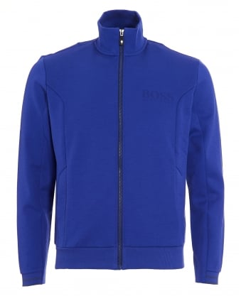 Mens Skaz Sweatshirt, Blue Funnel Neck Track Top