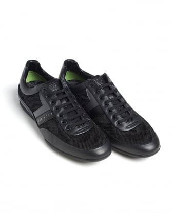 Mens Space_Lowp_Syme Trainers, Black Mesh Sneaker