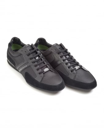 Mens Spacit Trainer, Fabric Blend Black Sneakers