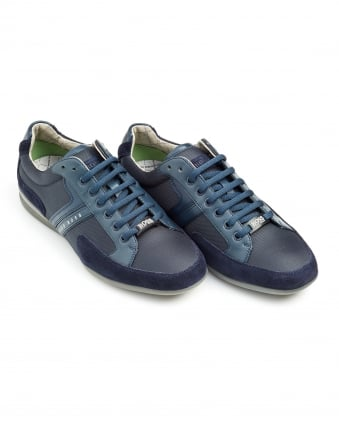 Mens Spacit Trainer, Fabric Blend Navy Blue Sneakers