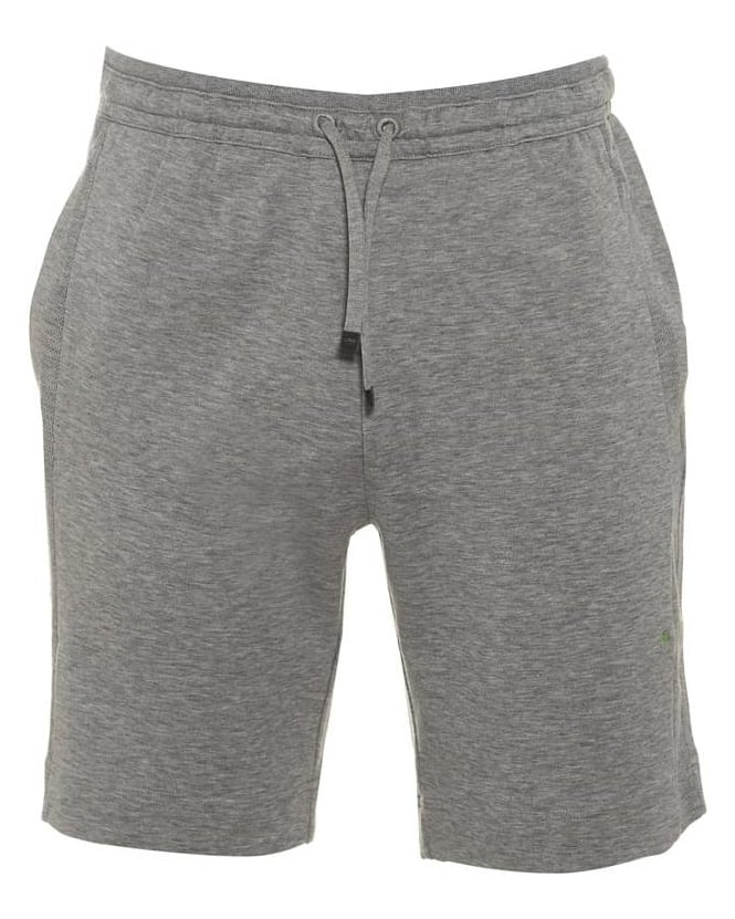 Hugo Boss Green Mens Sweat Shorts Headlo Grey Jersey Short