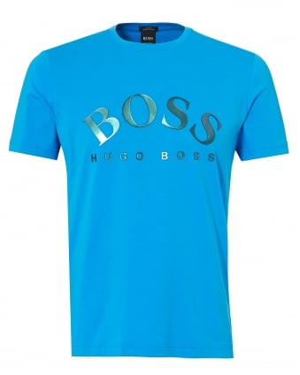 Mens Tallone T-Shirt, Retro Logo Blue Tee