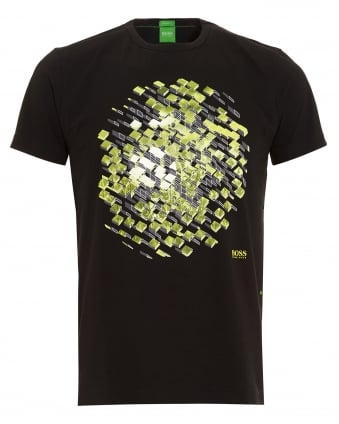 Mens Tee 11 3D Geometric Black T-Shirt