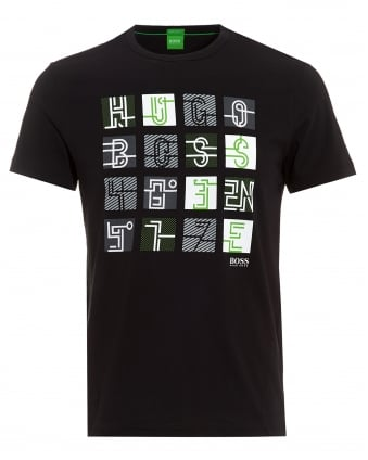 Mens Tee 2 Black Graphic Print T-Shirt