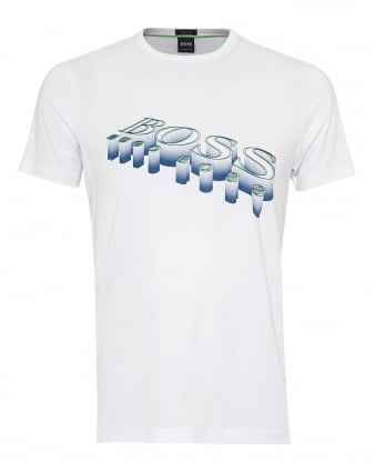 Mens Tee 2 T-Shirt, 3D Logo Graphic White Tee