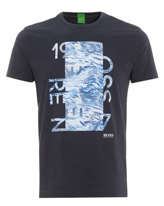 Mens Tee 4 Navy Blue Graphic Print T-Shirt