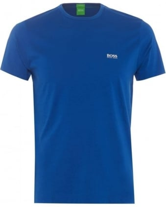 Mens Tee Blue Regular Modern Fit Crew Neck T-Shirt