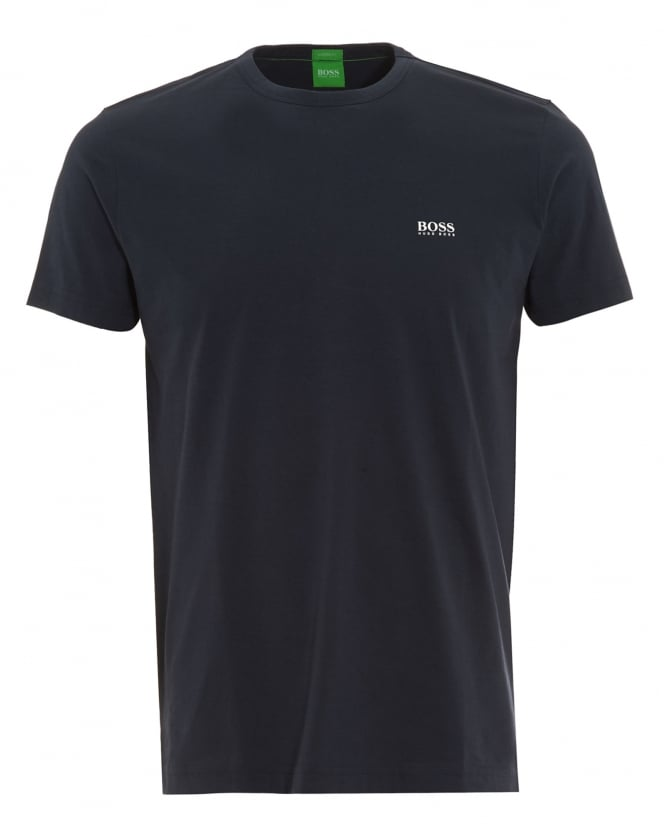 Hugo Boss Green Mens Tee, Navy Blue Logo T-Shirt