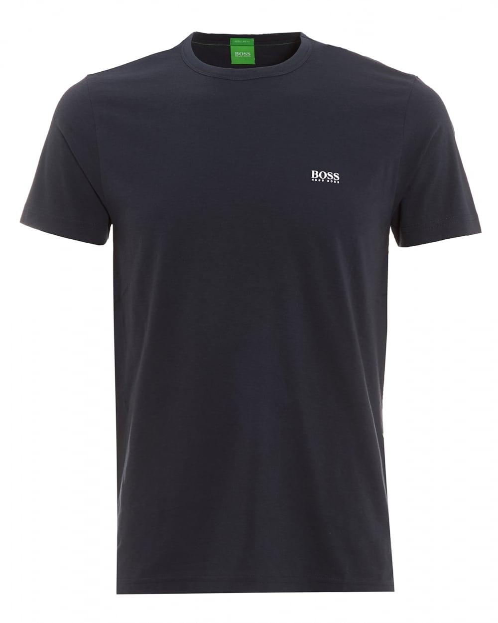 Hugo boss green mens tee navy blue plain logo t shirt for Hugo boss navy shirt