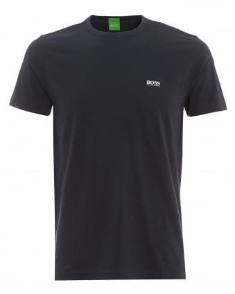 Mens Tee, Navy Blue Plain Logo T-Shirt