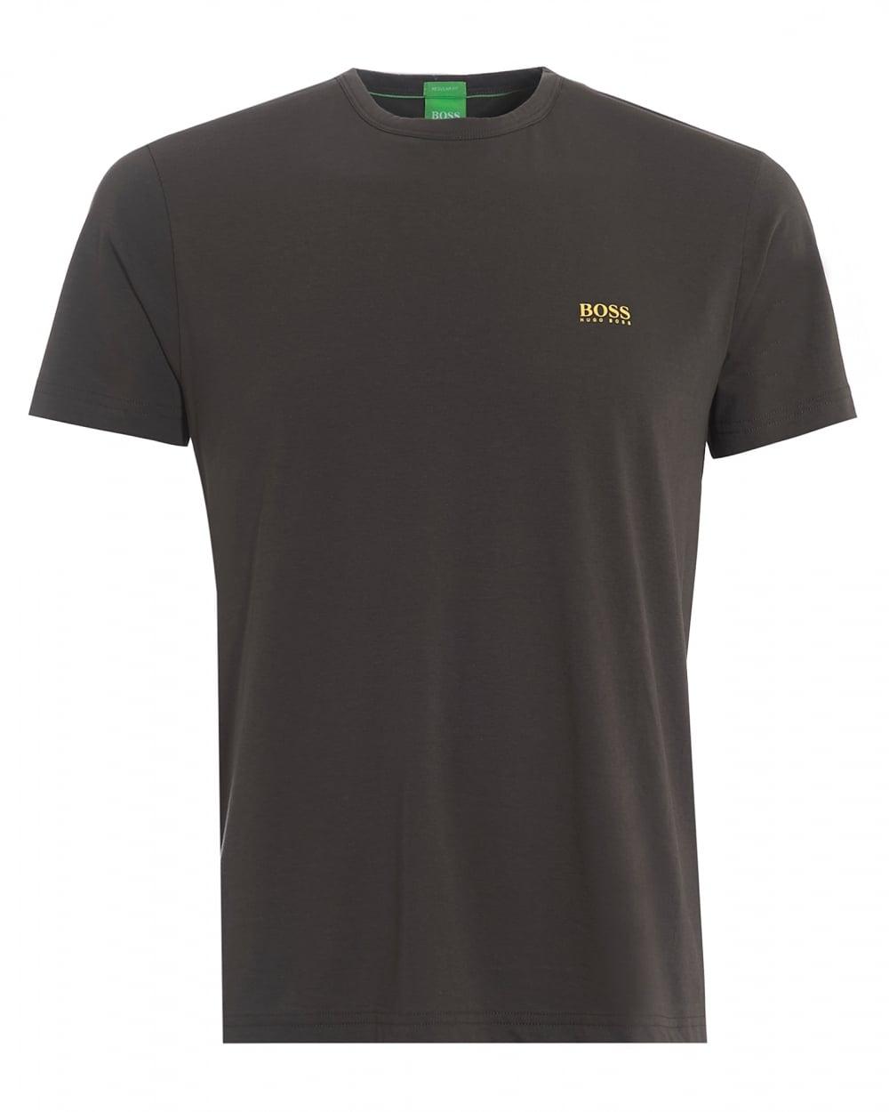 Hugo boss green mens tee plain basic raven grey t shirt for Boss mens t shirts