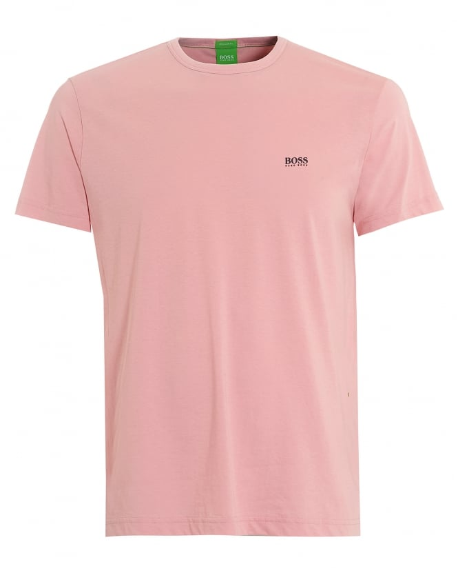 Hugo Boss Green Mens Tee, Plain Basic Rose Pink Logo T-Shirt