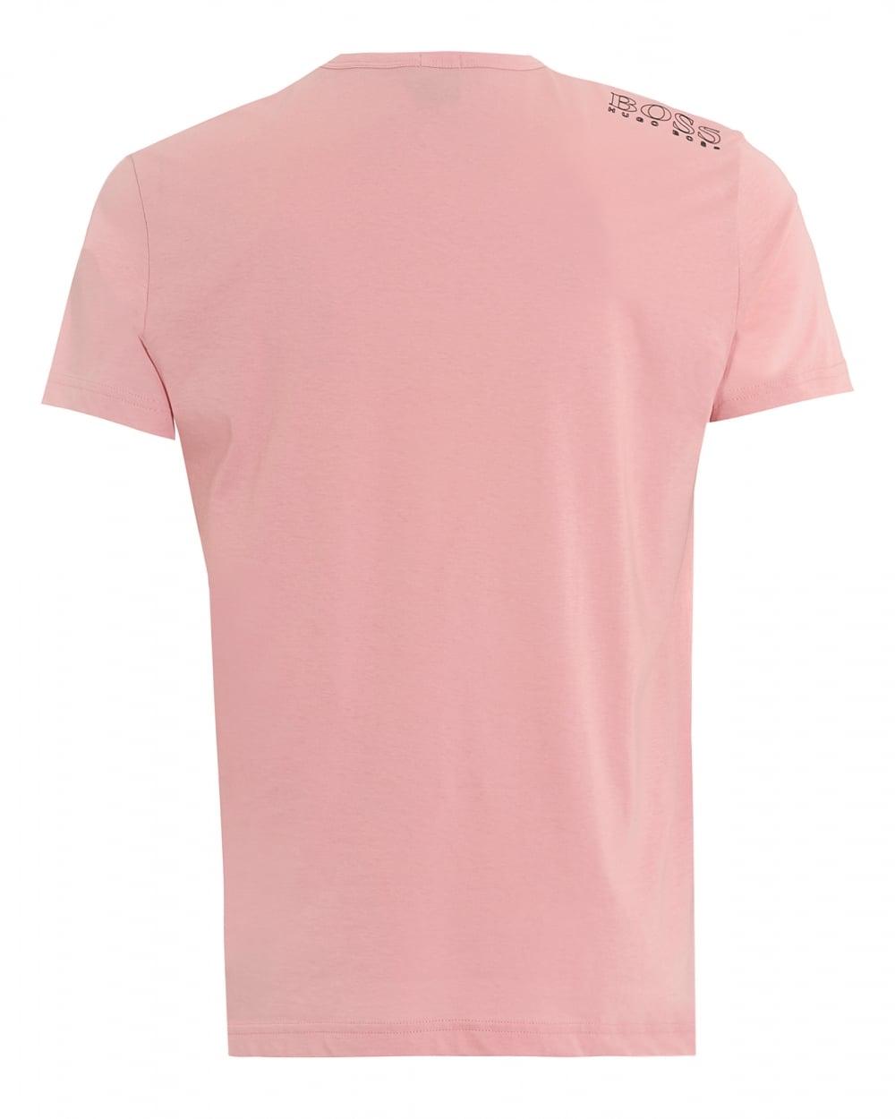 Hugo Boss Green Mens Tee, Plain Basic Rose Pink T-Shirt