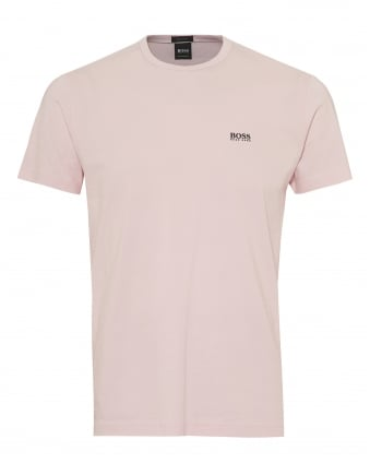 Mens Tee T-Shirt, Basic Shoulder Logo Pink Tee