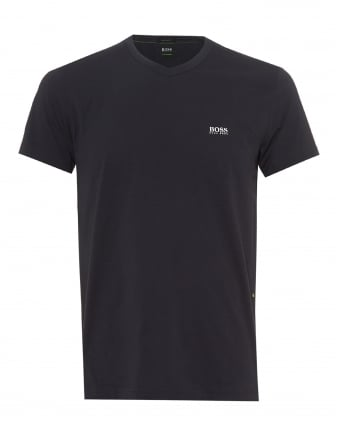 Mens Teevn T-Shirt, V Neck Navy Blue Tee