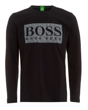 Mens Togn 1 T-Shirt, Black Long Sleeve Logo Tee