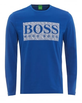 Mens Togn 1 T-Shirt, Monaco Blue Long Sleeve Logo Tee