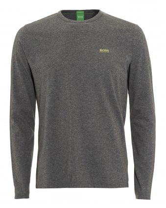 Mens Togn T-Shirt, Long Sleeve Grey Tee