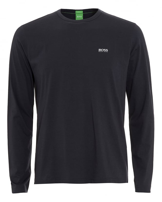 Hugo Boss Green Mens Togn T-Shirt, Long Sleeve Navy Blue Tee