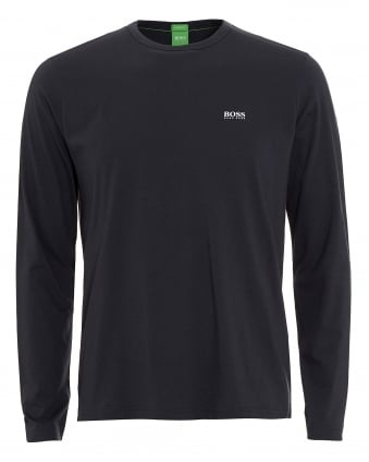 Mens Togn T-Shirt, Long Sleeve Navy Blue Tee