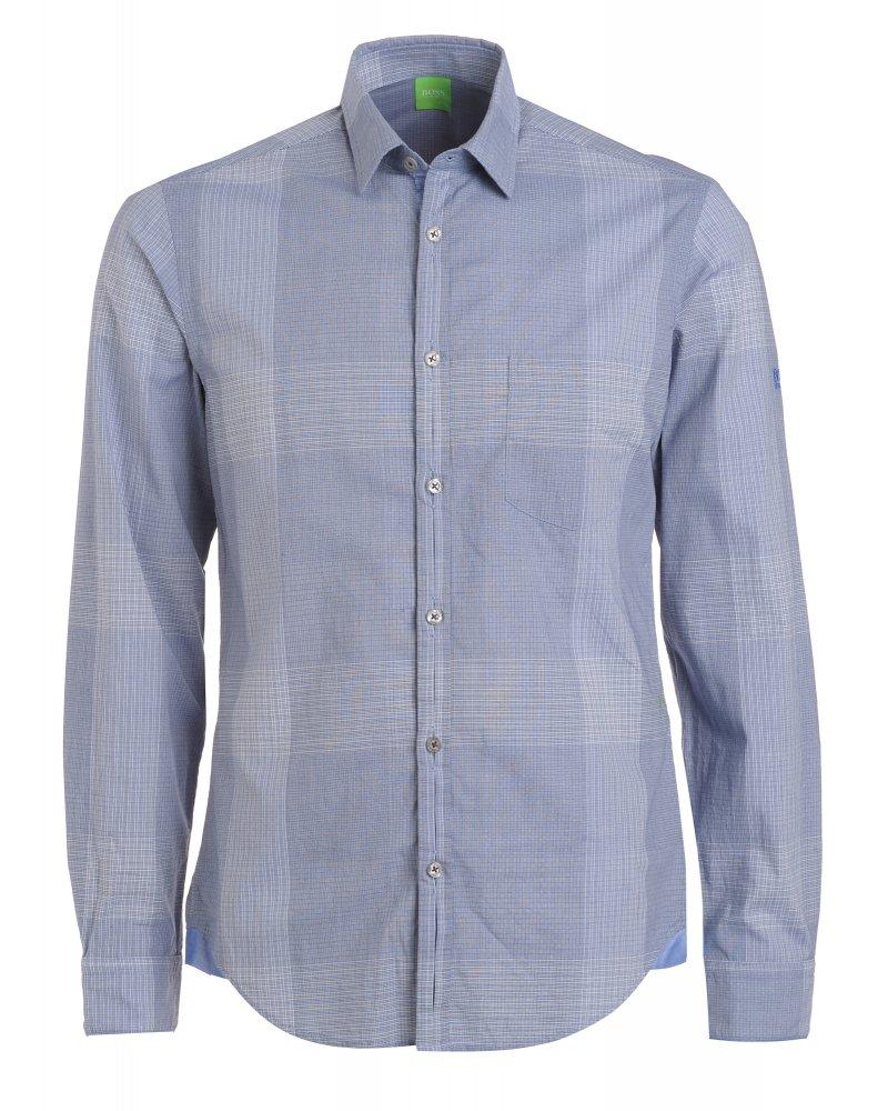 Shirt, Blue Check Pattern Regular Fit &#039 ...