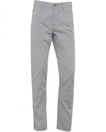 Trousers, Grey Stripe Slim Fit 'Leeman-W' Chino