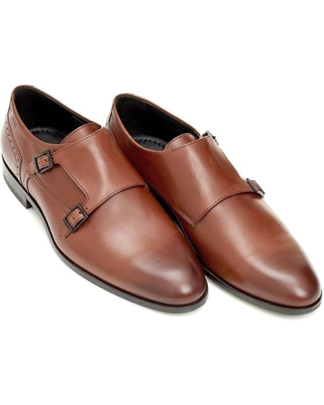 Hugo Boss - Hugo C-Molemo_LTBU Mens Monk Shoe Double Strap Brown Shoes