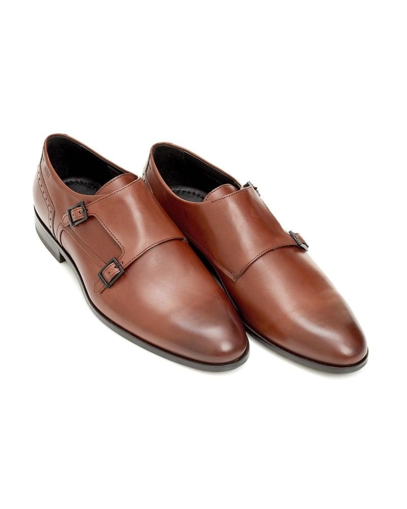 7e2771a0766 Hugo Boss Hugo C-Molemo LTBU Mens Monk Shoe Double Strap Brown Shoes